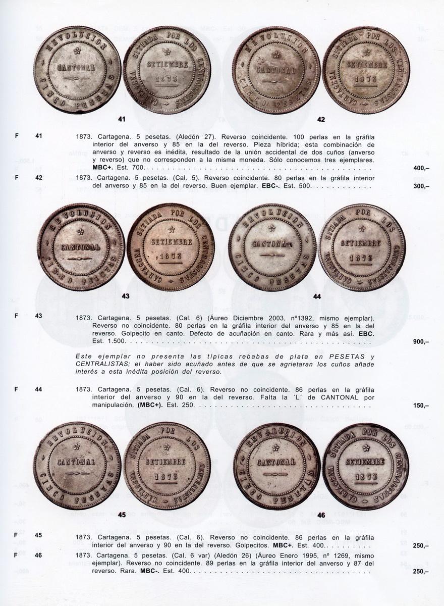 5 pesetas 1873 - Cartagena - Primera República (Revolución Cantonal) - Image