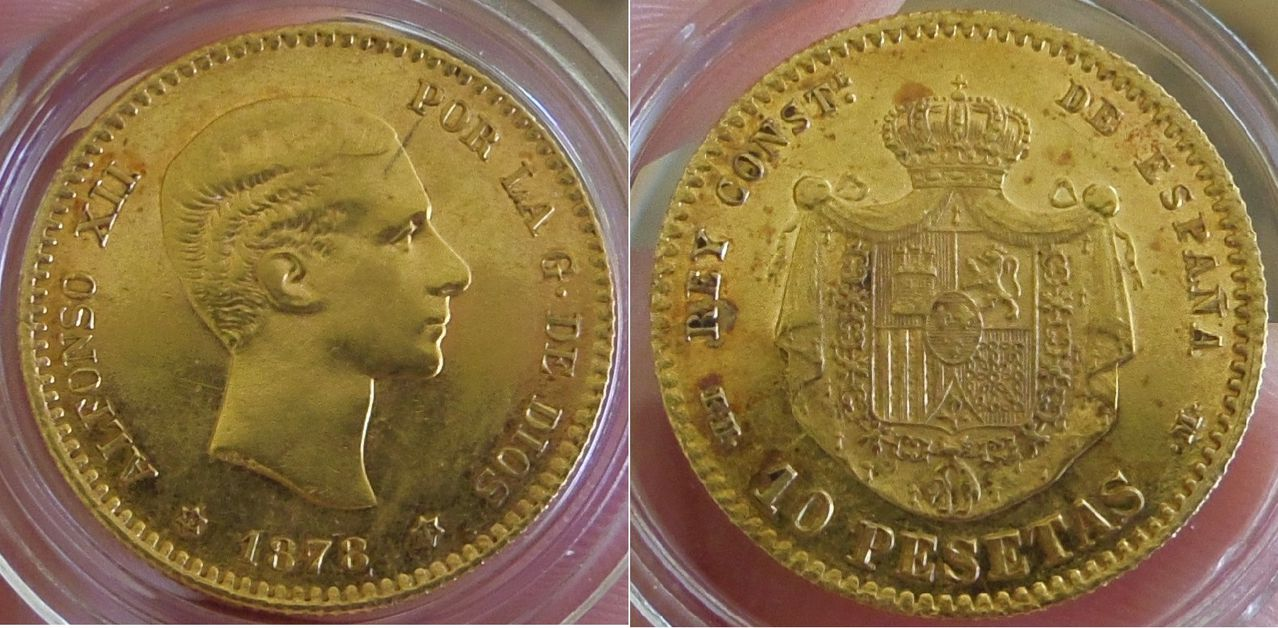 10 Pesetas. Alfonso XII. 1878. Madrid. SC. IMGP3809