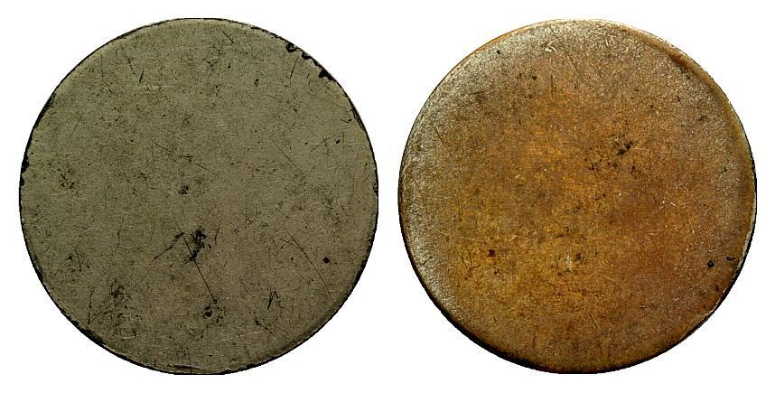 Cospel de latón que se uso para acuñar las monedas de 25 céntimos de Ibi 1574708