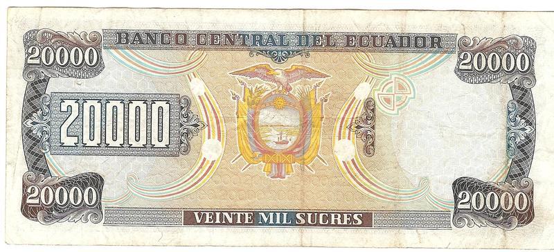 20000 Sucres Ecuador, 1999 Image