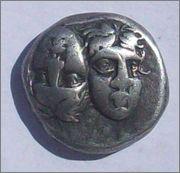 Dracma de Istros (Tracia). IΣΤΡΙΗ. siglo IV a d C. 102_1446