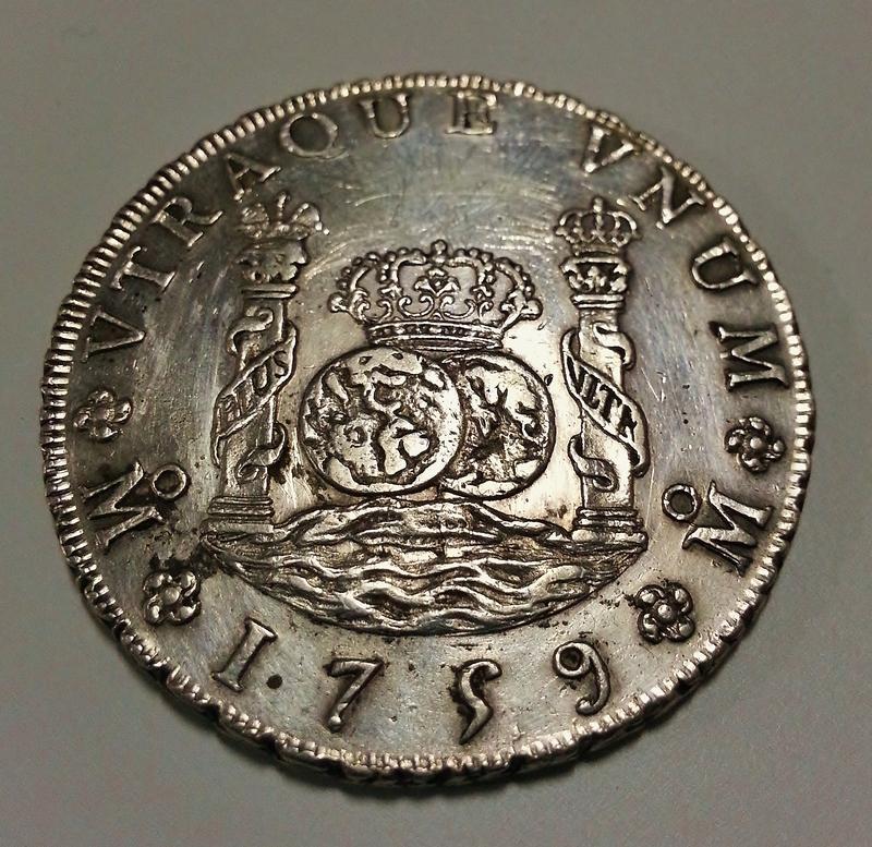 8 reales columnario de 1759. Fernando VI, México. 20151227_155243