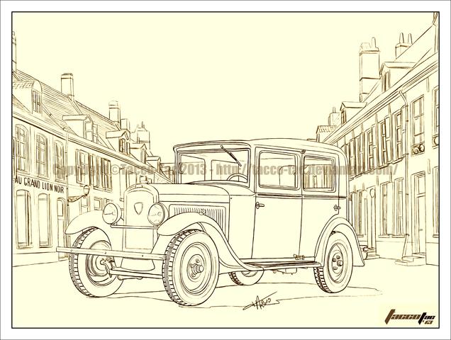 dessins - Dessins, illustrations et imagerie 3D PEUGEOT_201_3_4_avant_14