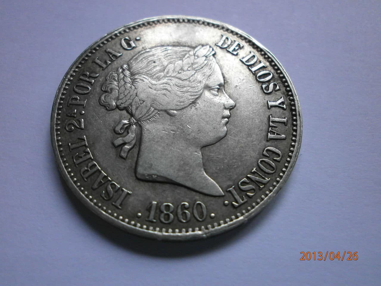 10 Reales 1860 Isabel II Barcelona P4260030