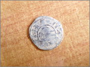 "Dinero ""bienpeinao"" de Alfonso VIII (1158-1214) de Toledo  P1150066"