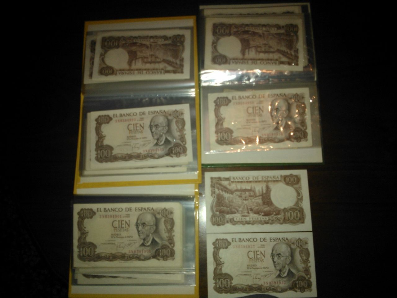50 billetes correlativos de 100 pesetas de manuel de falla WP_000089