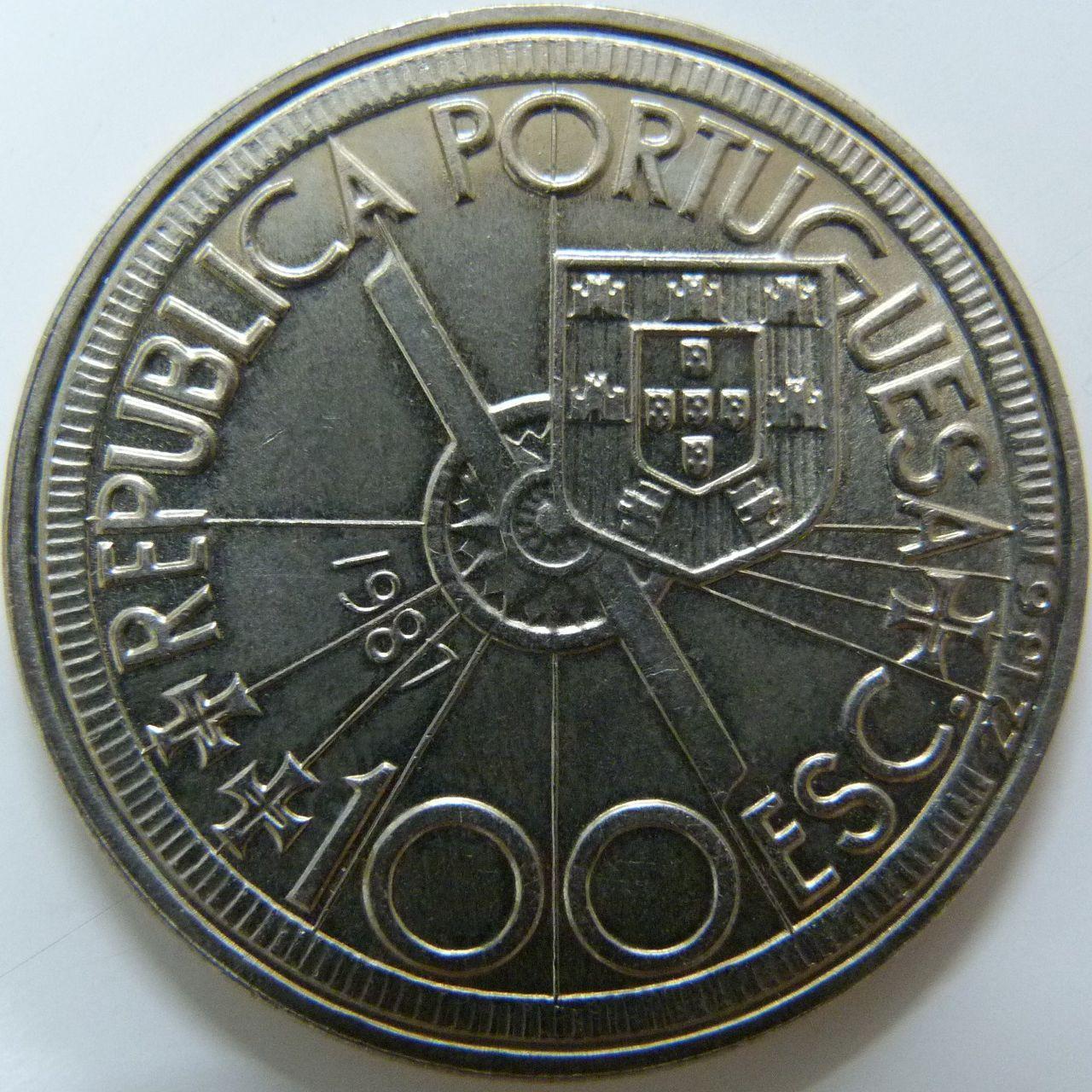 100 Escudos. Portugal (1987) - Diogo Cao POR_100_Escudos_Diogo_Cao_anv