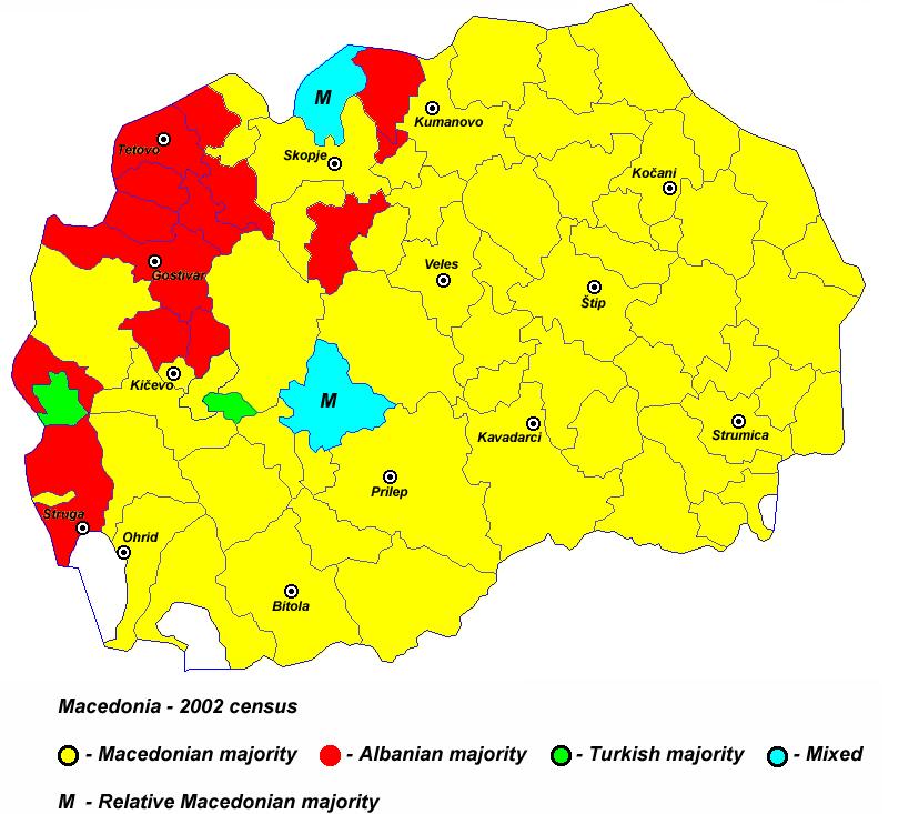 Pamja shqiptare e Maqedonise, dje, sot dhe neser Harta_1