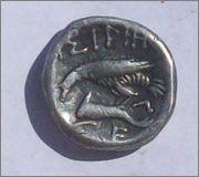 Dracma de Istros (Tracia). IΣΤΡΙΗ. siglo IV a d C. 102_1449