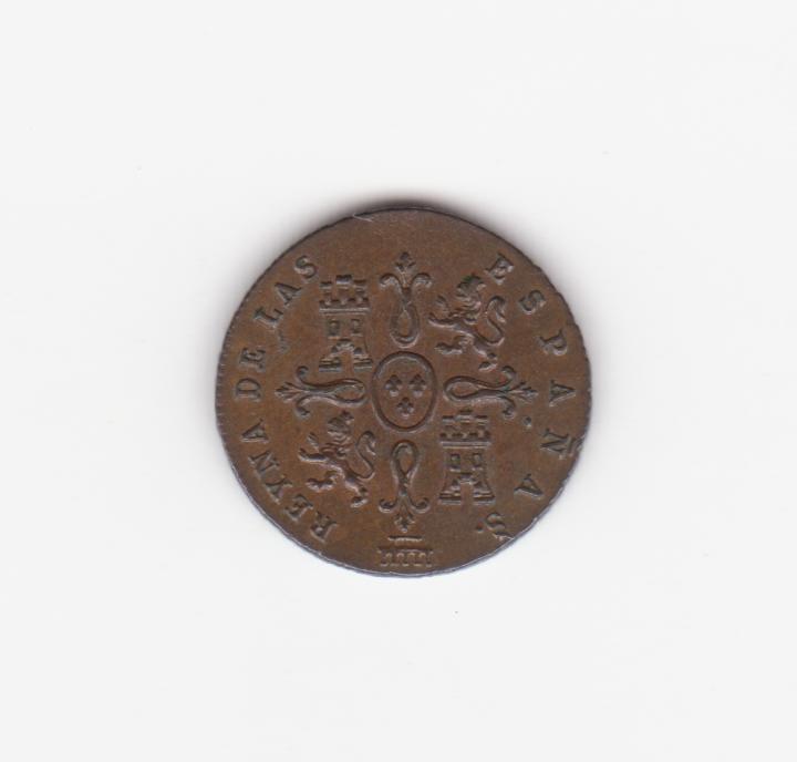 1 maravedí 1842 Segovia, Isabel II 1_maravedis_1842_001