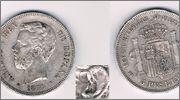 5 PTS 1871*1871 AMADEO I DE SABOYA VARIANTE : PATILLA RAYADA 5_pts_1871_patilla_rayada