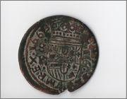 16 maravedis 1663 Felipe IV ¿Sevilla? Escudoamano_3
