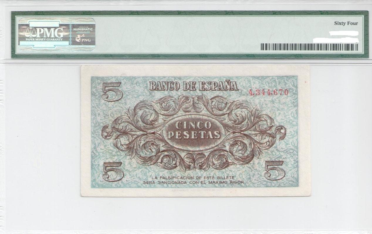 Colección de billetes españoles, sin serie o serie A de Sefcor - Página 4 5_ptas_1936_reverso