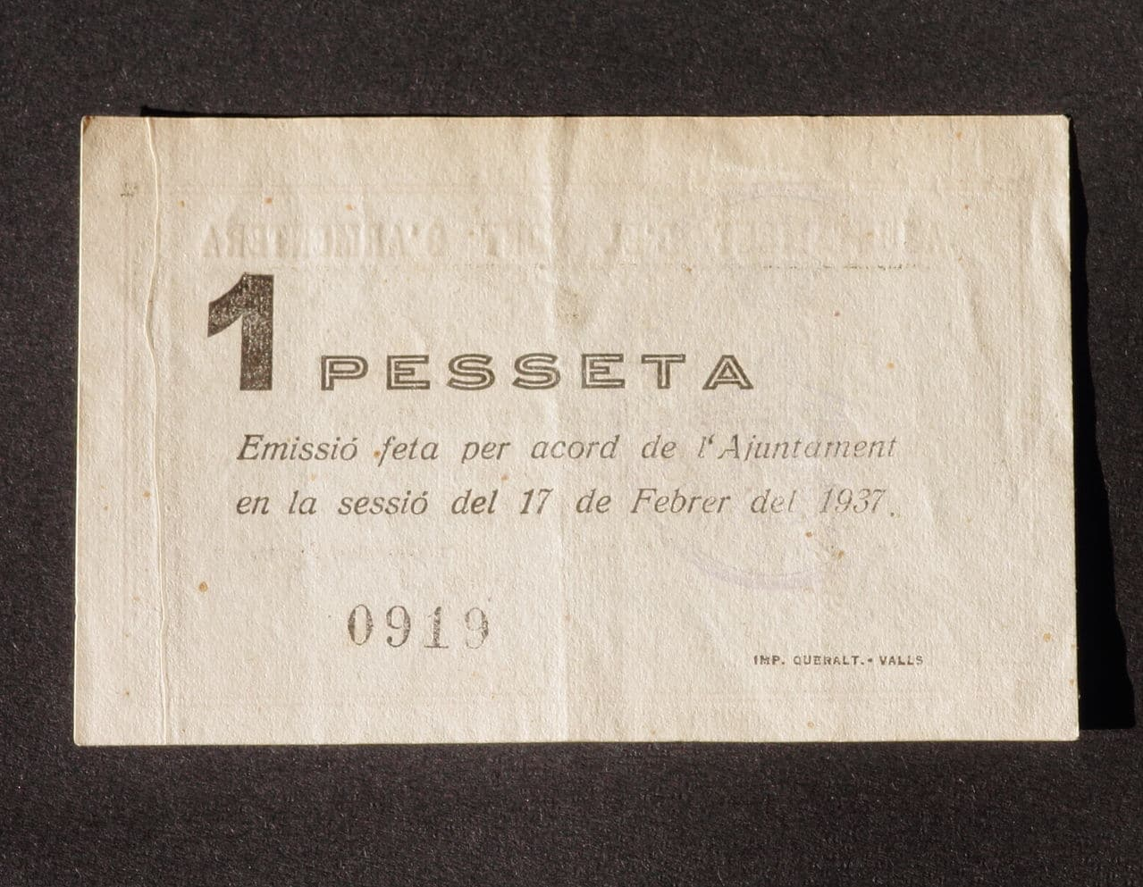 1 Peseta El Pont d'Armentera, 1937 IMG_2853