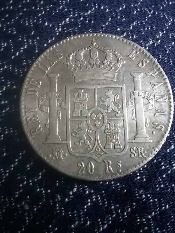 20 reales 1822. Fernando VII. Madrid SR 20170505_194524