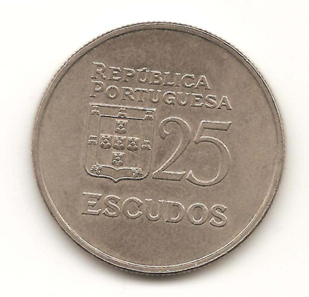 25 escudos de Portugal año 1985  Image