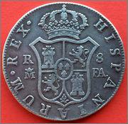 8 reales Carolus IIII  1802  Madrid .FA. Image