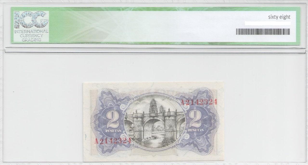 Colección de billetes españoles, sin serie o serie A de Sefcor 2_pta_del_38_reverso