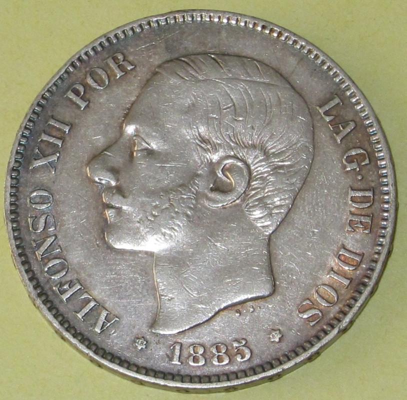 Duros de Plata de Alfonso XII 1887_MSM