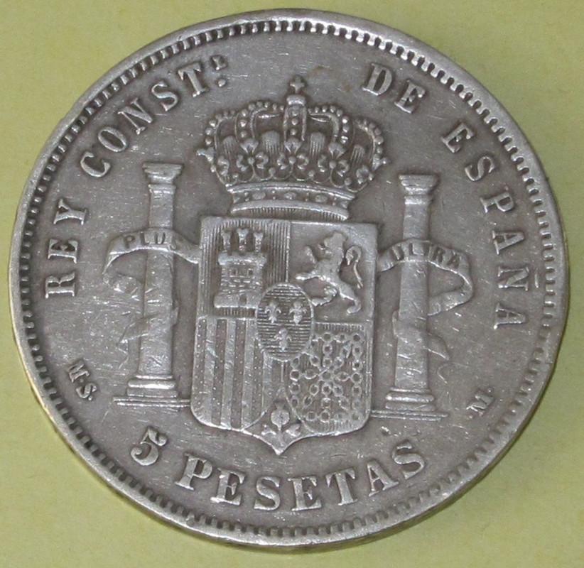 Duros de Plata de Alfonso XII 1886b