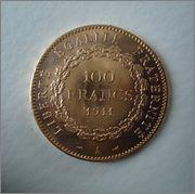 100 Francs 1911 A , 3a Republica ( FRANCIA ) Image