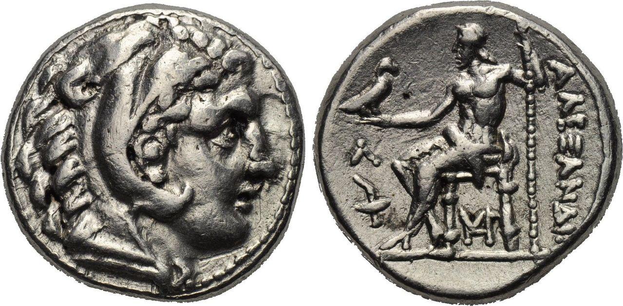 Tetradracma de Alejandro III de Macedonia. AΛEXANΔPOY. Smg_233