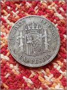 5 pesetas 1902 (19-02)  Alfonso XIII  24e9o5e