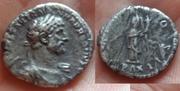 Denario de Adriano. P M TR P COS II - PAX. Pax estante a izq. Ceca Roma. Hadriano