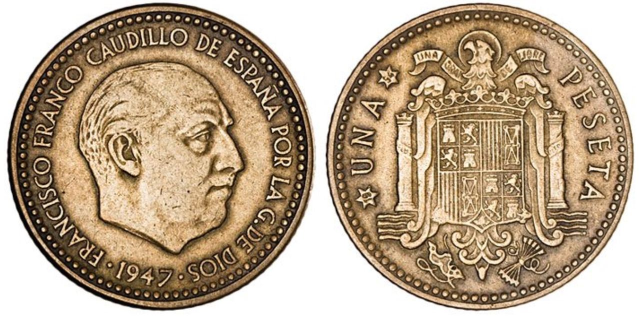 ayuda¡¡¡ Posible peseta de 1947 con estrella 1956 Image