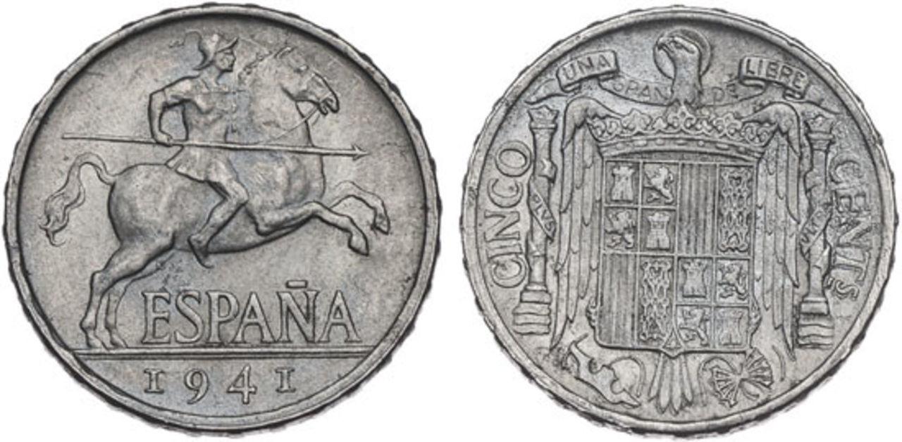 5 Céntimos 1941. Estado Español. PROY_000138_4624