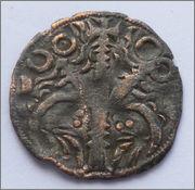 Meaja salamanquesa del Infante Sancho (futuro Sancho IV) (1282-1284) de León 1_Dinero_Fernando_III