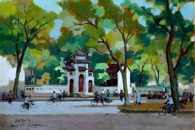 Hà Nội thập niên 1950 qua tranh bột màu Tranh-3-_Chua-_Quan-_Su-1536804639_680x0