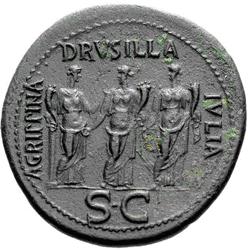 Glosario de monedas romanas. DRUSILLA. Image