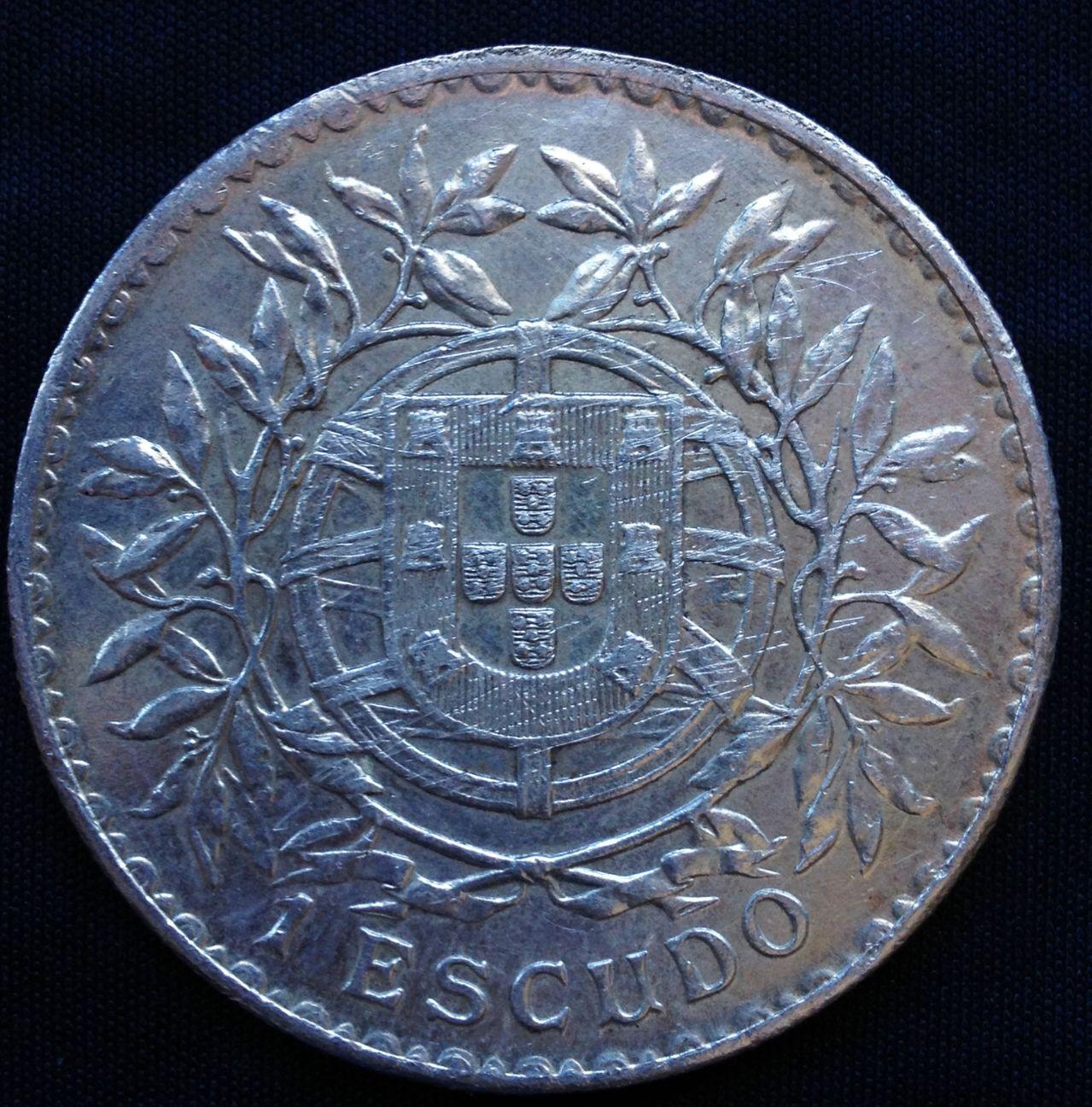 1 escudo 1916-Portugal- Emiliano dedit Image