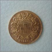 20 Francos 1927 B  ( vreneli ) SUIZA Image