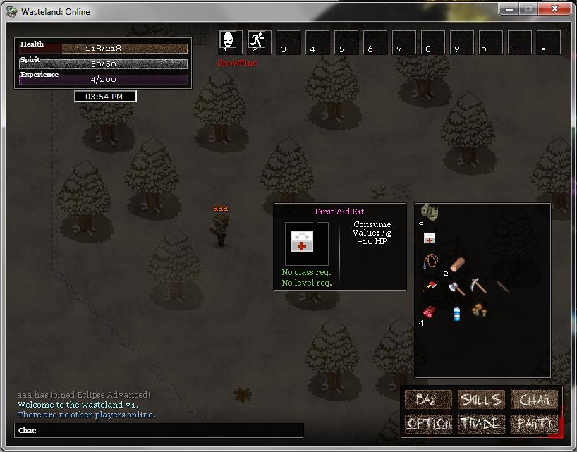 Wasteland Online - Updated Screenshots 2 (Online Players & Bag)   Specila