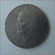1 Dolar 1976 Eisenhower bicentenaro 1776-1976 Image