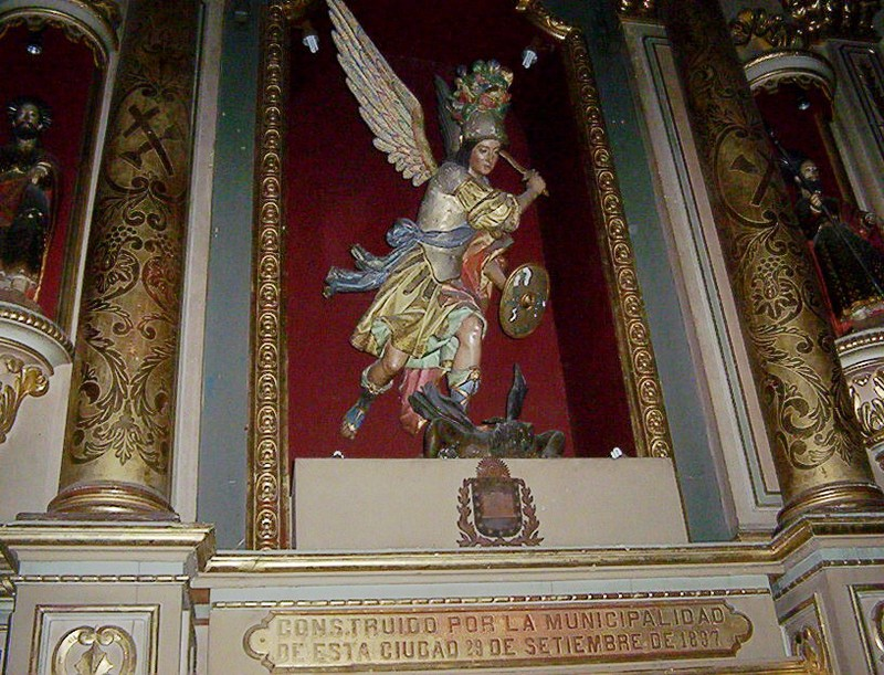 UNA VISITA AL MUSEO DEL CONVENTO DE SAN FRANCISCO SALTA ALTAR_A_SAN_MIGUEL_1807