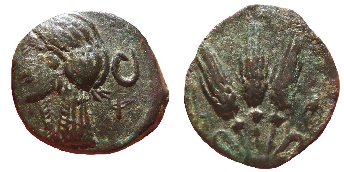 AE16 de Cesarea-Iol. 3 Espigas. (Mauritania) 274