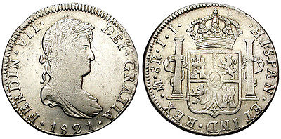 8 Reales 1821. Fernando VII. México JJ IMG_3503