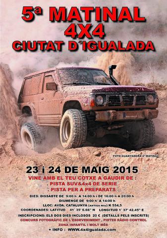 5ª Matinal 4x4 ciudad de Igualada FLYER_1_2015_1