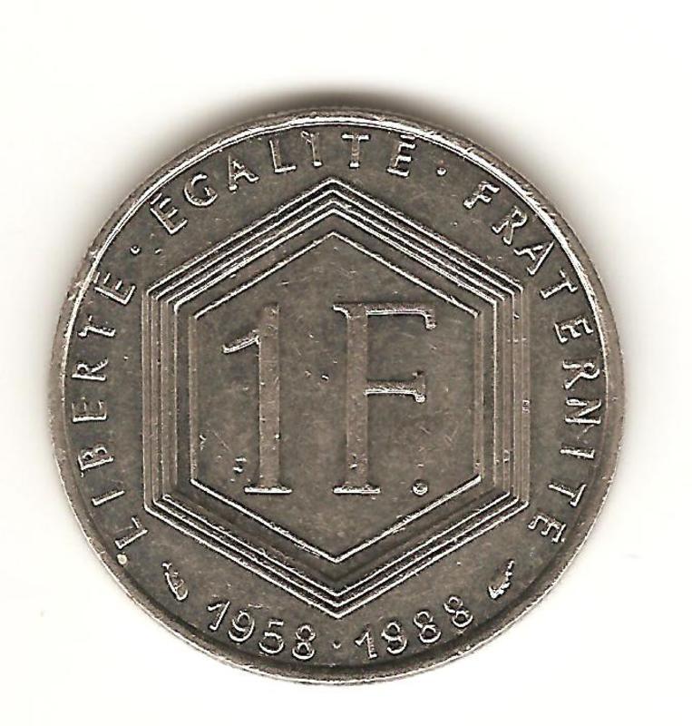 1 franco de 1988 de Francia Image