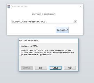 [Dúvida] Access - Passagem de parâmetros Erro1