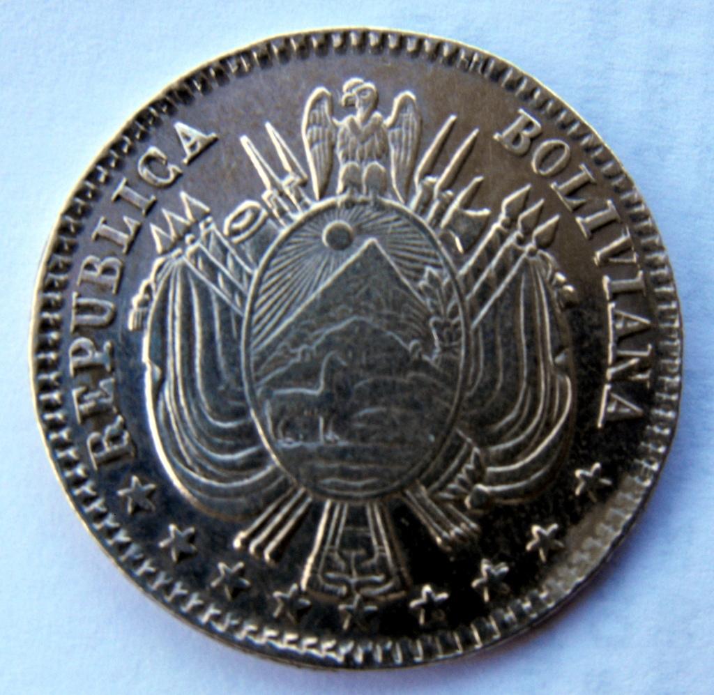 1/5 Boliviano. Bolivia. 1864 Image
