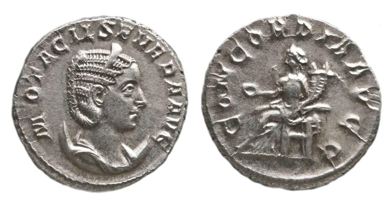 Antoniniano de Otacilia Severa. CONCORDIA AVGG. Concordia sedente a izq. Ceca Roma. Otacilia_severa