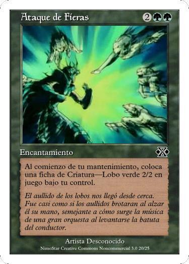 Cartas Magic Ataque_de_Fieras