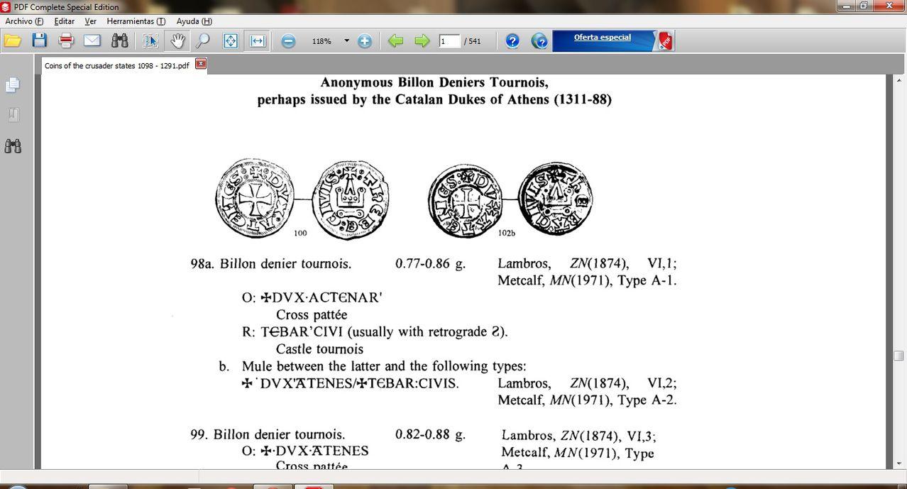 Dinero de los almogávares (1311-1388) o los duques florentinos (1388-1394) del ducado de Atenas  - Página 2 0000000