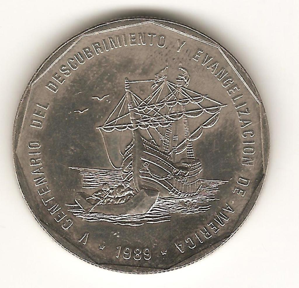 1 peso de la Republica Dominicana año 1989 Image