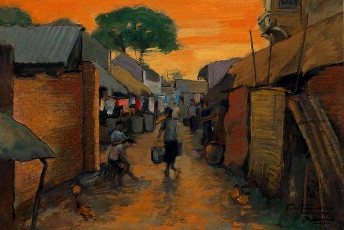 Hà Nội thập niên 1950 qua tranh bột màu Tranh-7-_Tran-_Nhat-_Duat-1536804640_680x0