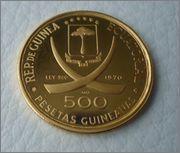 500 pesetas 1970  Rep.Guinea Ecuatorial ( Lincoln) Image